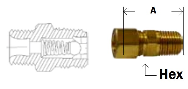 Compression Ball Check Valve On Sc Fastening Systems