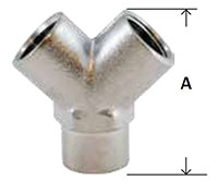 Brass Pipe WYE F x F Nickel Diagram