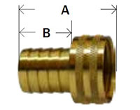 Brass Swivel Only Only - Short Shank Knurled Nut Diagram