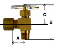 Compression x MPT Angle Needle Valve Diagram