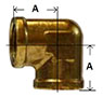 Brass 90 Degree Forged Female Elbow