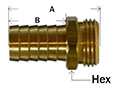Brass Male End Only Diagram